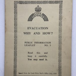 Civil Defence Leaflet, No.3. Front cover.  | Robin Grainger