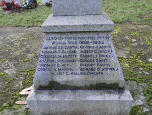Thomas C. Hey remembered on the Martlesham War Memorial, Suffolk.    Adrian S. Pye (War Memorials Online)