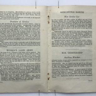 'National Service' Booklet - 1939, (page 24-25). | Robin Grainger
