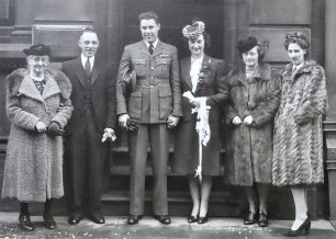 Horace and Cathie's wedding in Leicester, March 1940.  | ©️Terry Horne