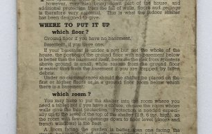 'How to put up your Morrison 'Table' Shelter' Leaflet