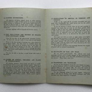 'War Emergency Information and Instructions' leaflet, 4/9/1939. Inside.  | Robin Grainger
