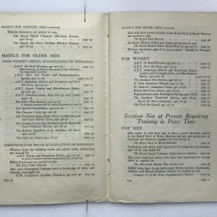 'National Service' Booklet - 1939, (page 10-11) | Robin Grainger