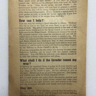 'Stay Where You Are' leaflet. (Overleaf) | Robin Grainger