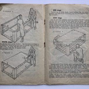'How to put up your Morrison 'Table' Shelter.' Leaflet. Page 3-4.   Robin Grainger