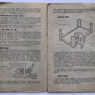 'How to put up your Morrison 'Table' Shelter.' Leaflet. Page 1-2.   Robin Grainger