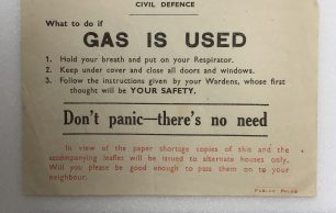 'What to do if Gas is Used' Leaflet