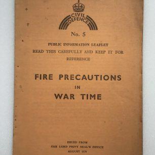 Civil Defence Leaflet, No.5. Front cover. | Robin Grainger