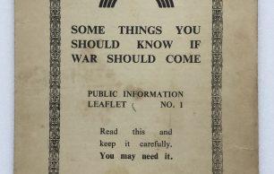 Civil Defence Public Information Leaflets 1-5, July/August 1939