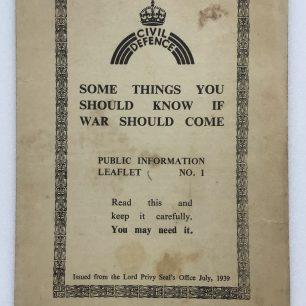 Civil Defence Leaflet No.1. Front cover | Robin Grainger