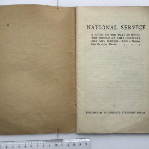 'National Service' Booklet - 1939, (Page 1) | Robin Grainger