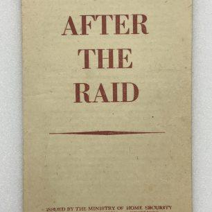 'After the Raid' leaflet. Front cover. | Robin Grainger