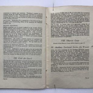 'National Service' Booklet - 1939, (page 44-45) | Robin Grainger