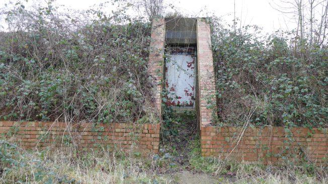 Blast Pen 6 Rear Doorway from January 2021.   Neil Broughton