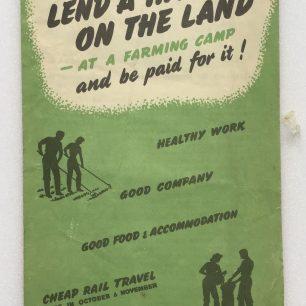 'Lend a Hand on the Land' leaflet. Front cover.  | Robin Grainger