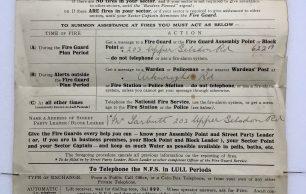 'Fire Calls' Leaflet - February, 1944