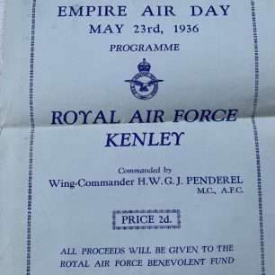 Empire Air Day Programme, 23rd May, 1936.    Deborah Butcher