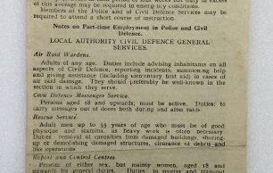 Civil Defence Leaflet - October, 1942