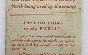 Explosive Incendiary Bomb Leaflet - August 1942
