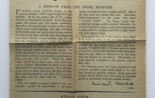 'Beating the Invader' Leaflet - May 1941