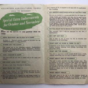 'Lend a Hand on the Land' leaflet. Inside.  | Robin Grainger