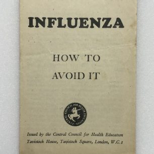 'Influenza - How to Avoid it' leaflet. Front cover.  | Robin Grainger