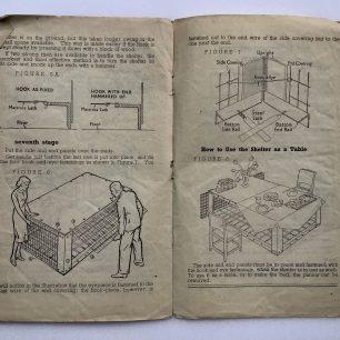 'How to put up your Morrison 'Table' Shelter.' Leaflet. Page 5-6   Robin Grainger