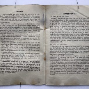 'The Fire Guards Handbook' - 1942, (Preface and Introduction) | Robin Grainger