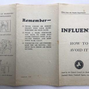 'Influenza - How to Avoid it,' Leaflet. Outside.  | Robin Grainger