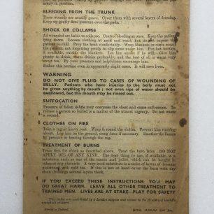 'First Aid in Brief' leaflet. (Overleaf)  | Robin Grainger