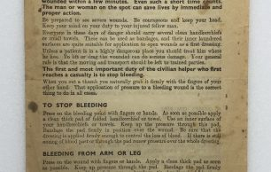 'First Aid in Brief' Leaflet - 1940