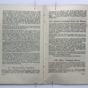 'National Service' Booklet - 1939, (page 36-37)  | Robin Grainger