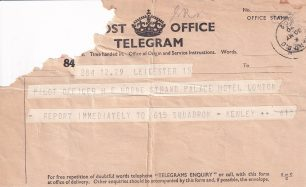 Telegram dated 30th May, 1940.  | ©️Terry Horne