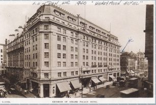The Strand Palace Hotel, London, where Horace and Cathie spent their honeymoon.  | Postcard from the collection of Terry Horne