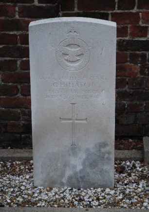The grave of F/Sgt. Hatch in Enghien Communal Cemetery, Belgium.    Findagrave
