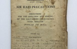 'Directions for the Erection and Sinking of the Galvanised Corrugated Steel Shelter' Leaflet - February, 1939