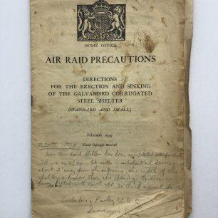 Anderson Shelter Leaflet - February, 1939 (Front cover)   Robin Grainger