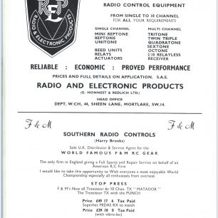 1962 World RC Aerobatic Championships Programme. Page 18.  | GBRCAA