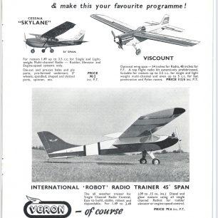 1962 World RC Aerobatic Championships Programme. Page 15.  | GBRCAA