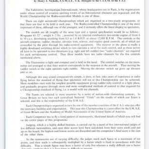 1962 World RC Aerobatic Championships Programme. Page 8. | GBRCAA
