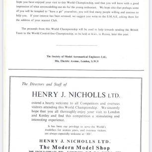 1962 World RC Aerobatic Championships Programme. Page 14.  | GBRCAA
