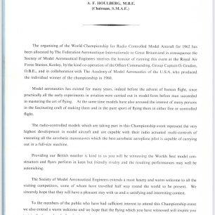 1962 World RC Aerobatic Championships Programme. Page 6.  | GBRCAA
