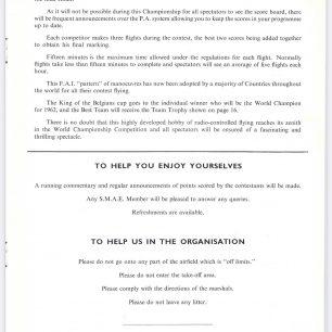1962 World RC Aerobatic Championships Programme. Page 9.  | GBRCAA