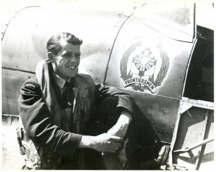 F/Lt Thomas Karl Ibbotson. This photo was found affixed to the flying logbook of his brother, Donald Alleyne Ibbotson, who served with 202 Squadron in Gibraltar and Ireland.    JMV