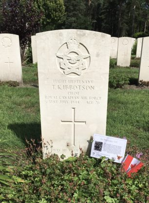The grave of F/Lt. Ibbotson in Brookwood Military Cemetery.    Linda Duffield