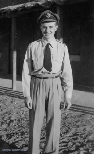 F/O Delbridge taken outside the camp in Sudan in July 1942.    Wanda Robinson via Aircrewremembered