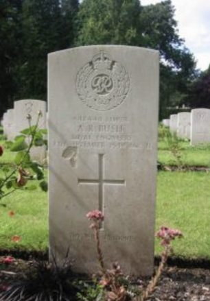 The grave of Sapper Bush.    Janet McBride
